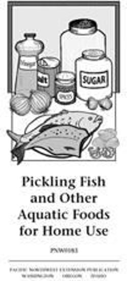 Pickling Fish and Other Aquatic Foods for Home Use cover