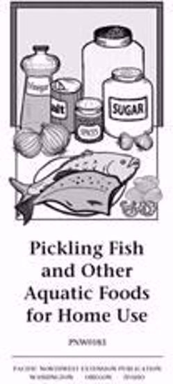 Imagen de Pickling Fish and Other Aquatic Foods for Home Use-PDF