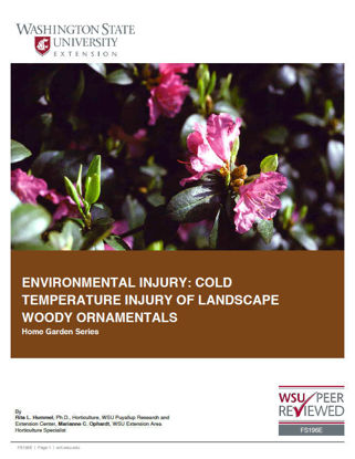 Imagen de Environmental Injury: Cold Temperature Injury of Landscape Woody Ornamentals (Home Garden Series)